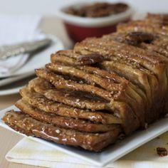Whole Wheat Caramel Pecan Pull-Apart Bread