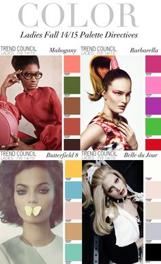 TREND COUNCIL FW 2014- LADIES COLORS