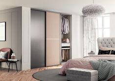 Chambre adulte : porte de placard douce et chaleureuse. Decoration, Divider, New Homes, Room, Dressings, Furniture, Home Decor, Budget, Gray