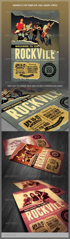 Grunge Flyer Template - http://graphicriver.net/item/grunge-flyer-template/4378200?ref=cruzine