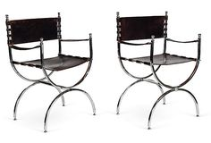 Kelly Wearstler Campaign-Style Chairs