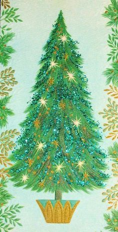 Vintage christmas card retro mid century classic christmas trees old christmas post cards 700x1369 m4hsunfo