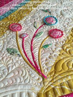 Simply Spring Fleur quilt by Karen L. Miller