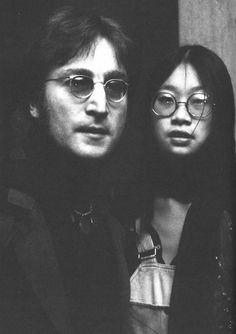 John Lennon and May Pang 1974