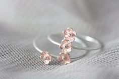 Sterling silver flower ring, silver ring, stacking ring, rose gold ring, cherry blossom ring, statement ring, jewelry, mother's day, gift
