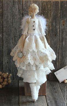 Куклы Тильды ручной работы. Ярмарка Мастеров - ручная работа Зимний ангел интерьерная кукла. Handmade.