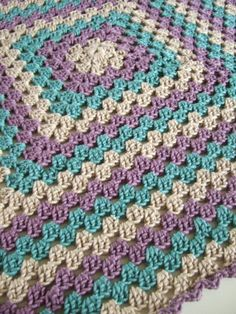 Crochet~ Granny Blanket - love the colors!
