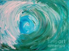 Wave Painting - Inside The Wave by Teresa Wegrzyn