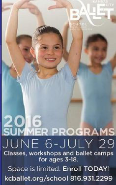 #ClippedOnIssuu from iFamilyKC April 2016 The Kansas City Ballet's Summer Dance Programs are fun for all ages but space is limited so call TODAY!!  // For more family resources visit www.ifamilykc.com! :)