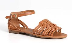City Classified Candle Huarache Sandals for Women in Tan CANDLE-S-TAN