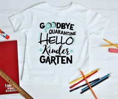 $18.95 · This fall will be a special first day of school after being quarantined for so long! Celebrate with this cute 100% cotton t shirt! I can do any grade! Preschool, kindergarten, first grade, etc. You…  More
