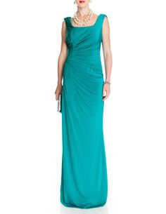 DOLCY COWL NECK MAXI DRESS AFTERSHOCK, aftershock dress, dolcy dress, teal green dress, maxi dress, cowl neck dress, green aftershock dress, £175
