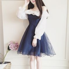 "Sweet bowknot dress  Coupon code ""cutekawaii"" for 10% off"