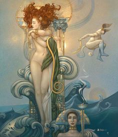 Michael Parkes is the world's leading magical realist painter, sculptor, and stone lithographer. The Official Website of Artist Michael Parkes. Fantasy Kunst, Fantasy Art, Illustrations, Illustration Art, Julie Bell, Inspiration Art, Magic Realism, Goddess Of Love, Gods And Goddesses