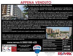 APPENA VENDUTO Bari, Via Guido Dorso Ampio Appartamento Esavani con due posti auto www.remax.it/20031050-623 info 348 7340665