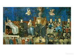 The Allegory of Good Government  Showing the Virtues by Ambrogio Lorenzetti.