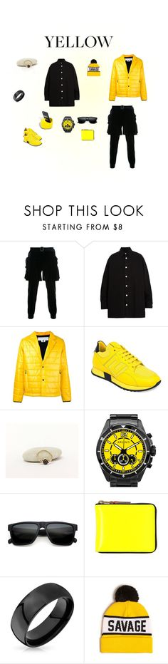 Yellow / Black / Yellow by flowerainbow on Polyvore featuring Raf Simons, Juun.j, Comme des Garçons, Versace, Argenti, Sefton, 21 Men, Bling Jewelry, men's fashion and menswear#yellow#black#mensfashion#yellowandblack#blackandyellow#
