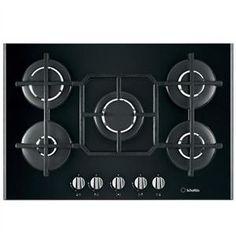 SCHOLTES - TV750GHBK _ Table de cuisson Gaz - Largeur 75 cm (encastrement standard) - 1 foyer rapide 2,6 KW - Allumage intégré aux manettes - Sécurité gaz par thermocouple - Grilles fonte.