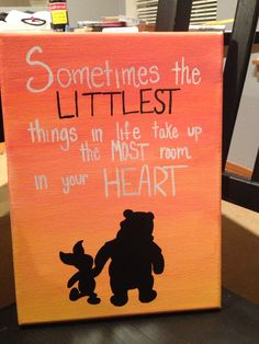 Winnie the Pooh inspired sorority canvas! Perfect for big/little