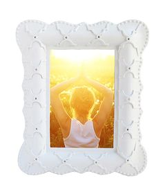 Look at this White Moroccan Trellis Resin Frame on #zulily today!
