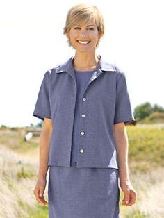 Women's Sausalito Checkered Jacket   Normthompson.com #Jacket #Apparel #Women