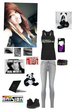 """""""Female Onision Fan"""" by kristina-shadowheart ❤ liked on Polyvore featuring 7 For All Mankind, Converse, Speck and Panda"""