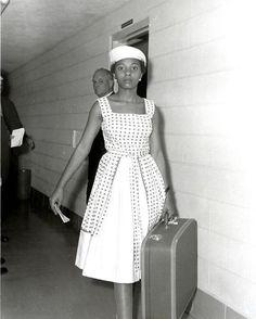 La activista pro voto, Annie Lumpkins en la cárcel de la ciudad de Little Rock. [1961]