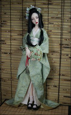 Lissa in a kimono I recently created.BJD doll