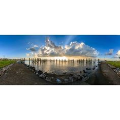 Sunset over a lake Lake Pontchartrain New Orleans Louisiana USA Canvas Art - Panoramic Images (27 x 9)