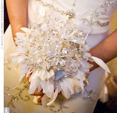 bouquets - feathers and crystals