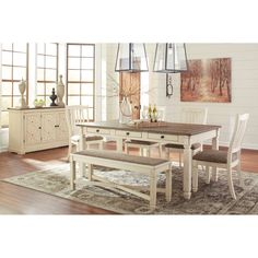 e2202114f0a67 Bolanburg Casual Dining Room Group by Ashley Signature Design at Dunk  Dining Room Sets