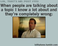 Aka when they talk about one of my fandoms