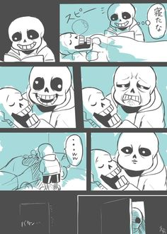 When Papyrus is sleeping. Sans X Frisk, Undertale Ships, Undertale Comic, Funny Undertale, Fox Fantasy, Popular Cartoons, Manga Comics, Cringe, Anime