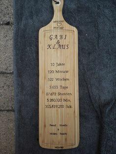 Bamboo Cutting Board, Hopscotch, Gift, 10 Years, Names, Money