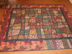 Paisleys Magic Tile - one of my favorite patterns - stitched and longarm quilted by Ginny Graham of West Kelowna, B.C.