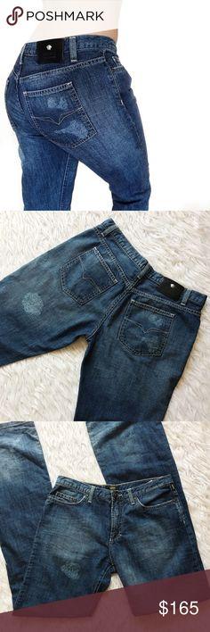 "• Versace • Wide Leg Jeans \\ waist 15""  \\ rise 9""  \\ inseam 34"" Versace Jeans Flare & Wide Leg"