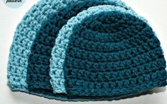 I recently received a request for a simple double crochet hat pattern; like my half double crochet hat pattern. If you prefer half double crochet hats please try one of these free patterns (. Crochet Hat Sizing, Crochet Baby Hat Patterns, Crochet Beanie Pattern, Crochet Baby Hats, Flower Patterns, Double Crochet, Easy Crochet, Free Crochet, Knit Crochet