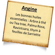traitement angine les autres huiles essentielles