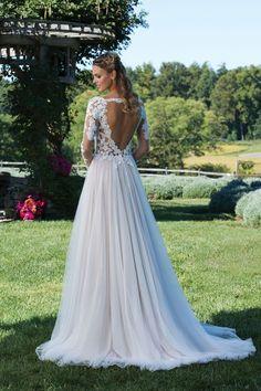 Sincerity Bridal - Style 3972: Kleid mit Venedig-Spitze, durchsichtiges Oberteil mit Ärmeln