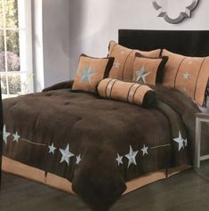 Western Comforter Sets, Western Bedding, Queen Bedding Sets, Brown Comforter, King Pillows, King Size Pillow Shams, Toss Pillows, Bedspreads Comforters, Quilted Bedspreads