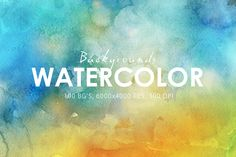 50% OFF Watercolor Backgrounds by ArtistMef on Creative Market