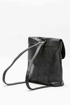 Yami Black Leather Backpack