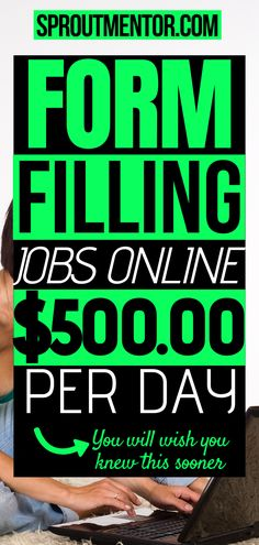 Do you love filling forms? Check out these form filling jobs which will allow you to work from home and still make money online every month. You need these side jobs to make extra cash. Work From Home Typing, Work From Home Careers, Legit Work From Home, Legitimate Work From Home, Work From Home Opportunities, Work From Home Tips, Earn Money From Home, Way To Make Money, Make Money Online