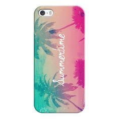 iPhone 6 Plus/6/5/5s/5c Case - Mint Aqua Pink Peach Summer Sunset... found on Polyvore