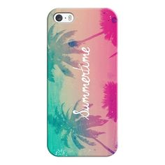 iPhone 6 Plus/6/5/5s/5c Case - Mint Aqua Pink Peach Summer Sunset... ($35) ❤ liked on Polyvore featuring accessories, tech accessories, phone cases, phones, cases, electronics, iphone case, iphone cover case, apple iphone cases and mint iphone case