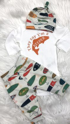 Fishing baby gone fishing hunting baby camo baby fishing lures take home outfit coming home outfit baby shower gift i m a keeper This adorable set is made with organic cu. Camouflage Baby, Baby Boys, Our Baby, Carters Baby, Baby Boy Country, Having A Baby Boy, Baby Outfits, Baby Shower Outfits, Newborn Outfits