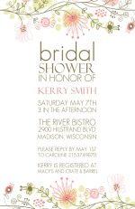 Bridal Shower Ideas - Spring Floral Border Bridal Shower Invitation