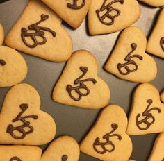 Bridal shower monogram cookies