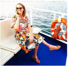 JJ Martin on holidays with her Alvaro Gonzalez Official sandals  www.alidifirenze.fr