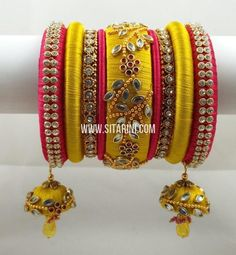 Price For orders, whatsapp to We ship All over the world Silk Thread Earrings Designs, Silk Thread Bangles Design, Silk Bangles, Beaded Necklace Patterns, Bridal Bangles, Thread Jewellery, Fabric Jewelry, Jewelry Patterns, Gold Jewelry